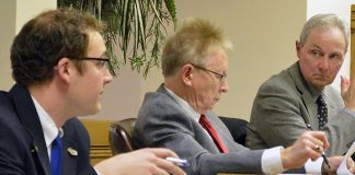 Assistant City Manager Mark Morgan, City Manager Ed Brookshier and City Attorney Gary Luisi