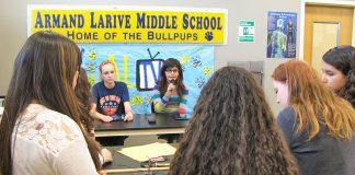 Armand Larive Middle School ALTV broadcast