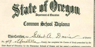 Gilbert Davis Diploma