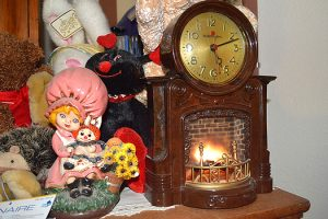 Fireplace Clock