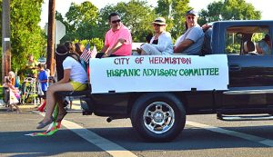 Hispanic Advisory Committee truck