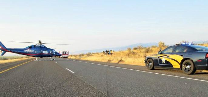 Interstate 84 Crash Sends Man to Hospital | Northeast Oregon Now