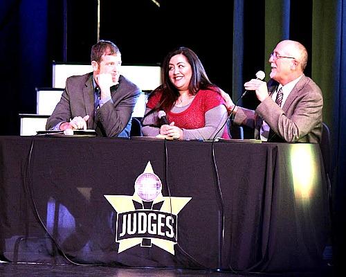 Judges TJ Hansell, Erica Sandoval and Phil Hamm