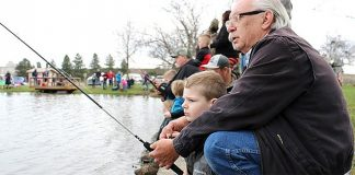 Fishing at McNary Channel Ponds