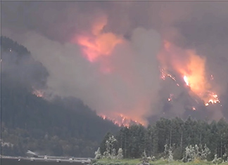 Eagle Creek Fire Raw Footage